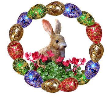 Easter, Eggs, Rabbit, Celebration, Animal