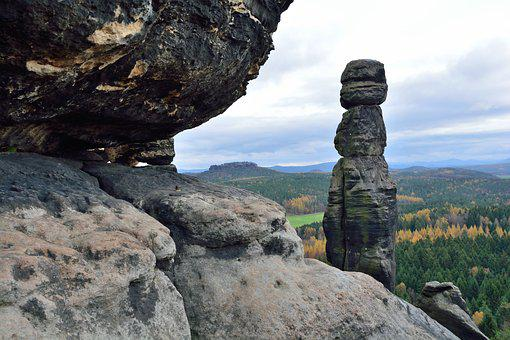 Nature, Travel, Landscape, Elbe Sandstone Mountains