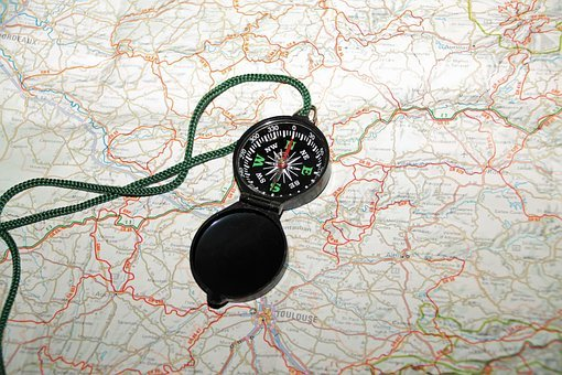 Compass, Map, Cartography, France
