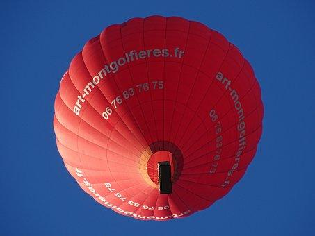Balloon, Hot Air Balloon Ride, Evening, Atmospheric