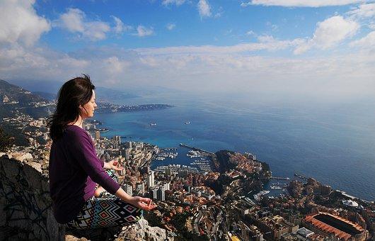 Monaco, Yoga, Meditation, France, Sea