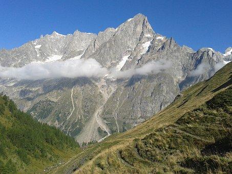 Mountain, Summit, Panoramic, Snow, Nature