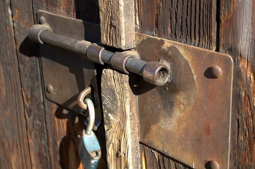 Gateway, Lock, Old, Door