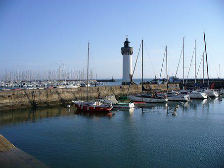 Port, Lighthouse, Body Of Water, Refuge, Sea, Yacht