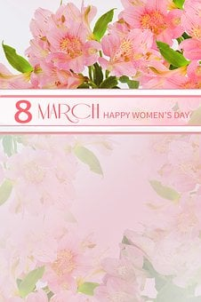 Flower, Women's Day, 8 March, Space For Text, Nature
