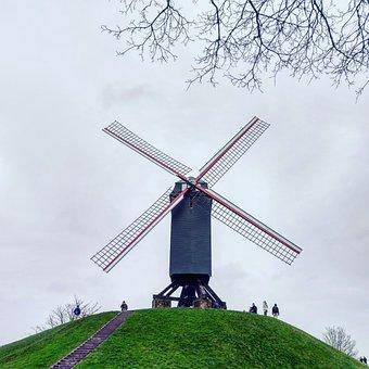 Windmill, Wind, Sky, Energy, Landscape, Green