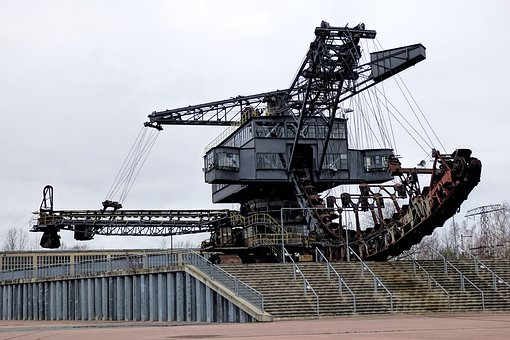 Machine, Industry, Braunkohlebagger, Open Pit Mining