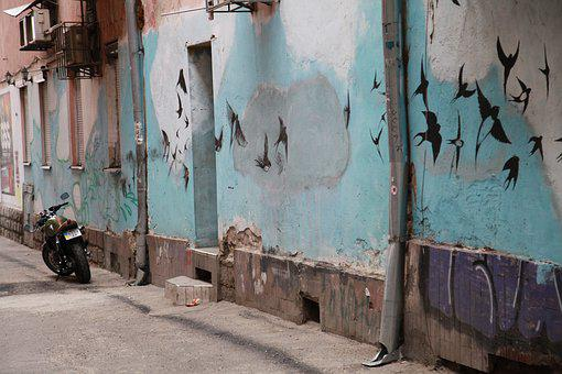 Street, No One, Old, Wall, Architecture, Dirty