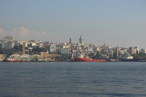 Istanbul, Estuary, Marine, Water, Turkey, Cami