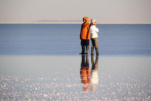 Reflection, Water, Landscape, Uyuni Salt Flat Immensity