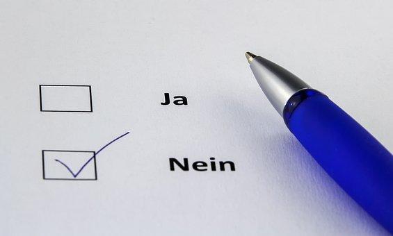 Leave, Paper, No, Vote, Ankreuzen, Negative, Coolie