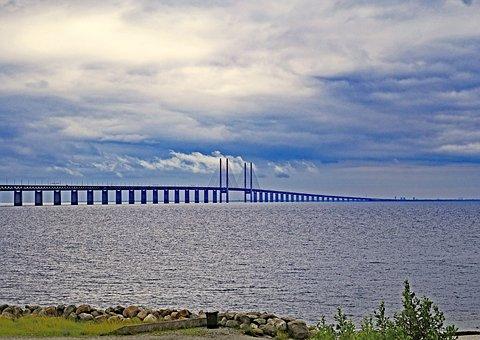 Oresund Bridge, Sweden, Denmark, The Sea Crossing