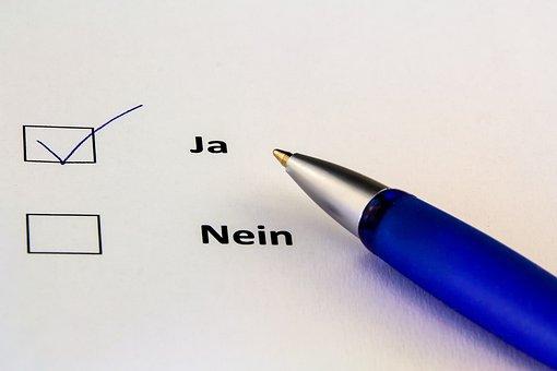 Leave, Paper, Yes, Vote, Ankreuzen, Positive, Coolie
