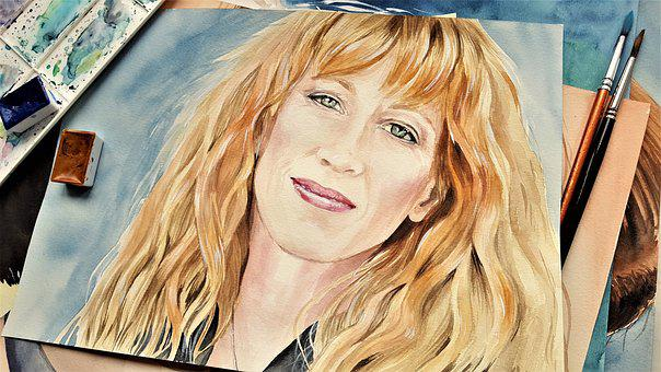 Woman, Art, Painting, Portrait, Music, Loreen Mckennitt