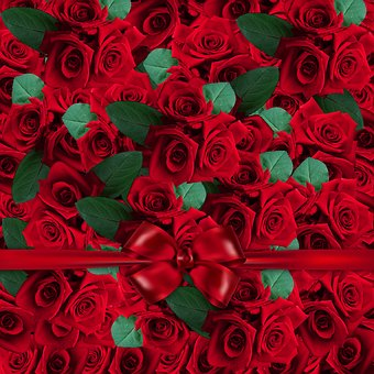 Floral, Flower, Pattern, Art, Roses, Red Roses, Texture