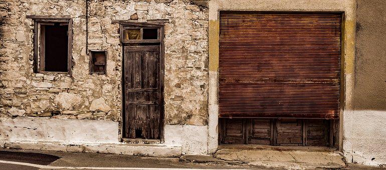 Door, Architecture, House, Shop, Abandoned, Doorway