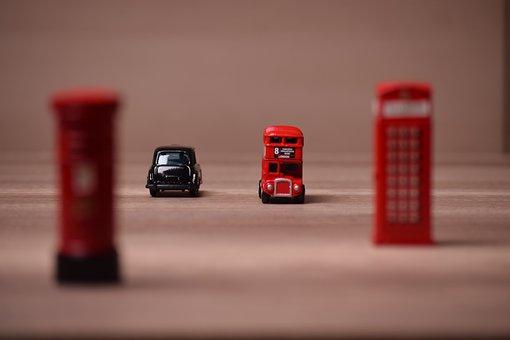 City, Street, Car, Bus, Town, Downtown, Transport