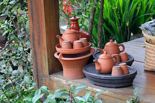 Pot, Pottery, Garden, Wood, Flora, Traditional, Clay
