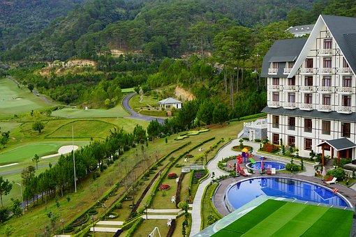 Da Lat, Vietnam, Sweet Bell Resort Hotel, Goft, Hill