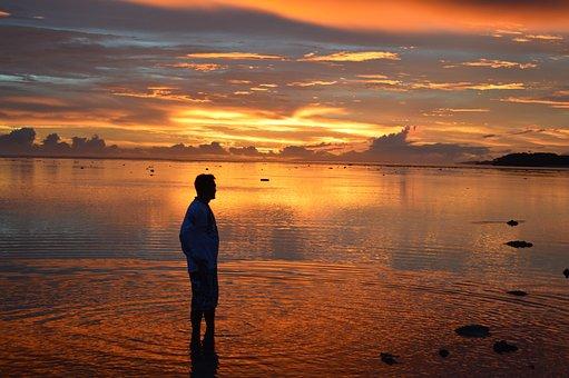 Sunset, Dawn, Water, Dusk, Reflection, Backlit, Nature