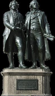Goethe, Schiller, Monument, Weimar, Thuringia Germany