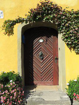Architecture, Door, Wooden, Entrance, Doorway, House