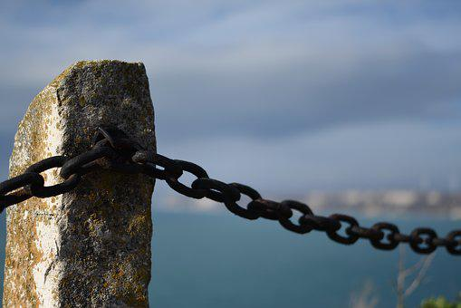 Sea, Chain, Post, Kaliakra, Seaside