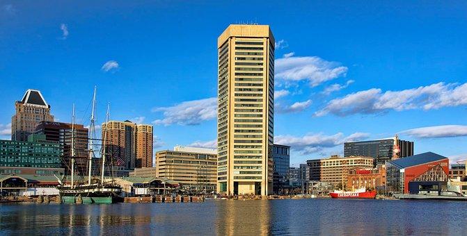 Architecture, City, Cityscape, Sky, Skyline, Baltimore