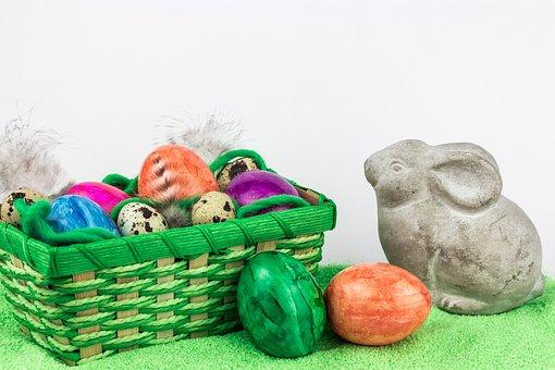 Basket, Easter, Egg, Background, Food, Easter Egg