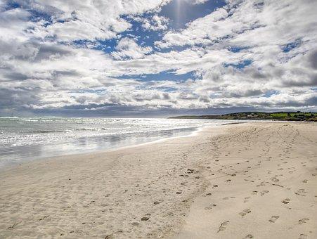 Sand, Water, Beach, Nature, Seashore, Ireland