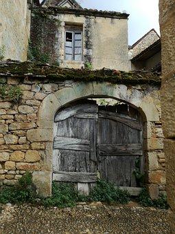Architecture, Style, Romance, Poortdeur, Dordogne