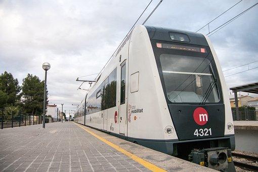Train, Transport, Travel, Railway Line, Road, Metro