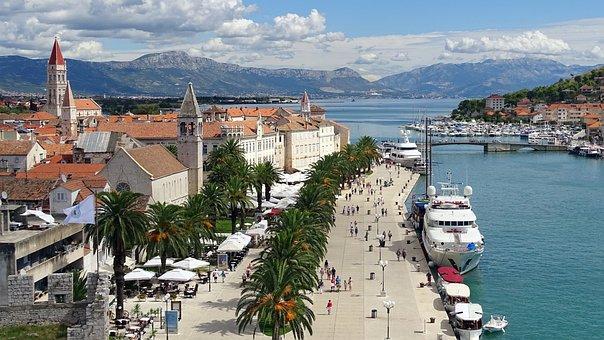 City, Sea, Architecture, Travel, Croatia, Trogir