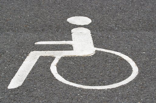 Asphalt, Road, Pictogram, Wheelchair Users, Disability