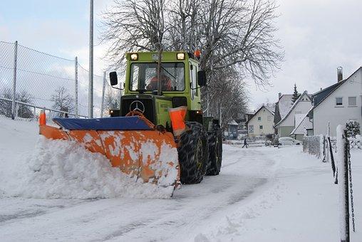 Winter, Snow, Cold, Weather, Blizzard, Snow Plough