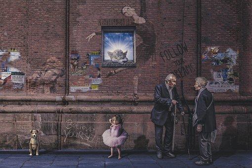 People, Adult, Group, Street, Man, Woman, Elderly