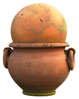 Terracotta, Ball, Amphora, Ceramic, Flower Bowl