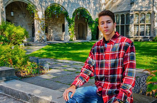 Young Man, House, Arch Ways, Outside