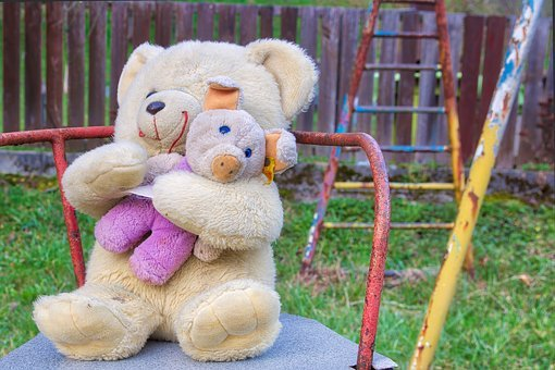 Carousel, Teddy, Toys, Teddy Bear, Colorful, Playground