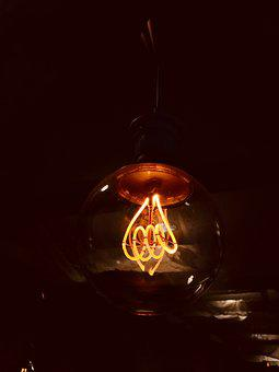 Insubstantial, Lamp, Illuminated, Energy, Light, Dark