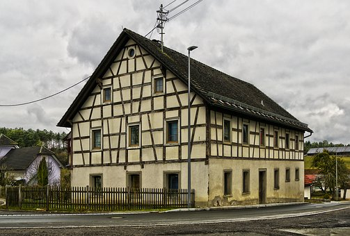 Fachwerkhaus, Farmhouse, Building, Roof, Truss