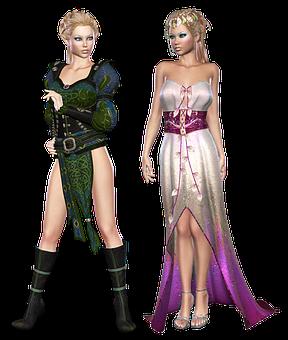 Fantasy, Elf, Woman, Female, Character, Dress, Fae