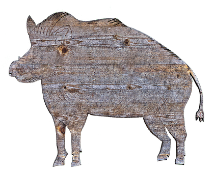 Boar, Holzfigur, Figure, Wood, Animal, Cut Out, Sawn