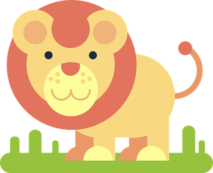 Lion, Animal, Comic Drawing, Simply, Minimalist, Funny