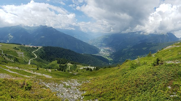 Nature, Mountain, Panoramic, Sky, Landscape, Rosiere