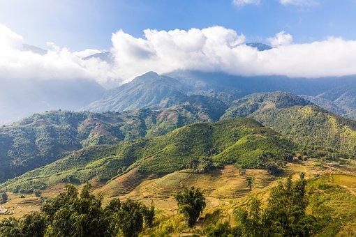 Nature, Landscape, Tree, Mountain, Sky, Sapa, Vietnam