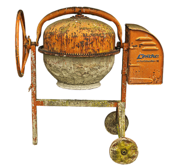 Drum Mixer, Concrete Mixer, Old, Mortar Machine
