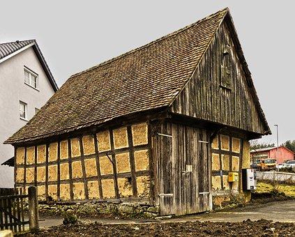 Barn, Fachwerkhaus, Old, Farmhouse, Building, Roof