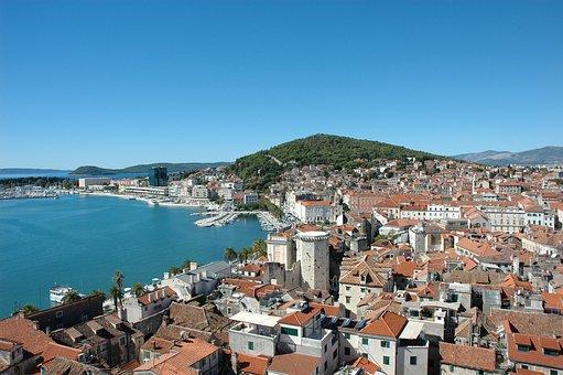 Split 2016, Old Town, Port, Marjan Hill, Sea