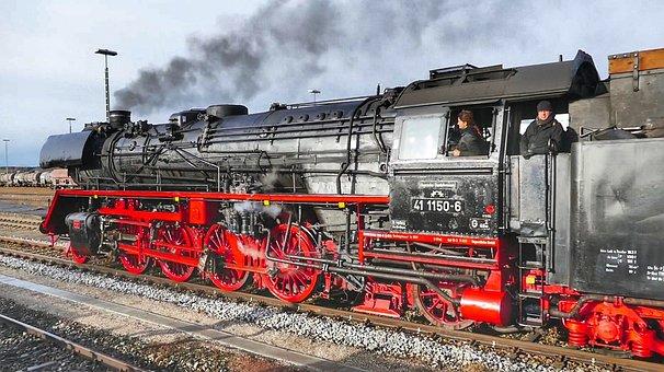 Motor, Train, Railway, Steam, Transport System
